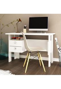 Mesa Escrivaninha 2 Gavetas Msm 423 Branco - Móvel Bento