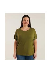 Blusa Básica Sem Cava Curve & Plus Size | Ashua Curve E Plus Size | Verde Escuro | Gg