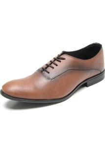 Sapato Social Fiveblu Curve Caramelo
