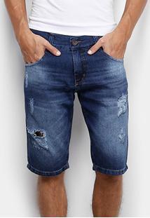 Bermuda Jeans Biotipo Rasgos Stone Masculina - Masculino