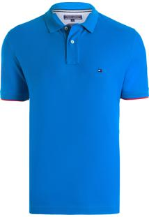 Polo Masculina Regular Fit - Azul