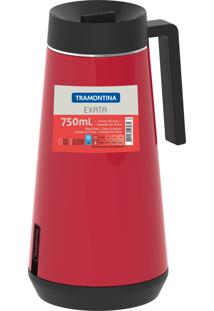Garrafa Térmica Tramontina Exata Em Aço Inox Vermelho Com Infusor 750 Ml 61644076