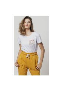 Camiseta Jay Jay Basica Sunset Girl Branca Dtg