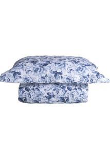 Conjunto De Colcha Taormina Solteiro- Azul & Branco-Sultan