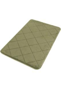 Tapete De Banheiro 60X40Cm Poliéster Verde Coisas E Coisinhas