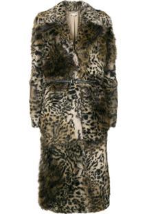 Stella Mccartney Casaco Com Estampa Leopardo - Marrom