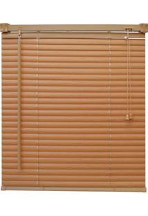 Persiana Pvc Wood Com Textura Madeira L100Xa160 Cm Controle De Luminosidade Por Acionamento Manual E Antialérgica Mel - Evolux