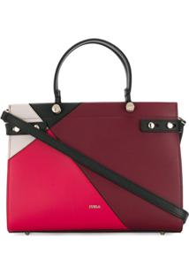 Furla Bolsa Lady Color Block - Vermelho