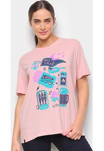 Camiseta T-Shirt Cantão Boyfriend Chef Feminina - Feminino-Rosa