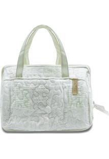Necessaire Mary Begonia Em Patchwork Original - Branco - Feminino - Dafiti