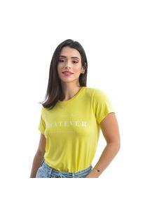 T-Shirt Fernanda Ramos Manga Curta Amarelo