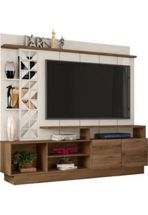 Estante Home Theater Para Tv Atã© 65 Polegadas Sala De Estar Vivaz Canela/Off White - Frade Movelaria - Off-White - Dafiti