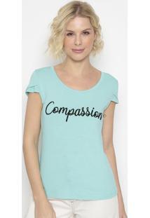 "Blusa ""Compassion""- Verde Claro- Shirley Dantasshirley Dantas"