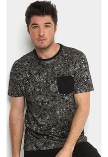 Camiseta Mcd Especial Full Pasley Masculina - Masculino-Preto