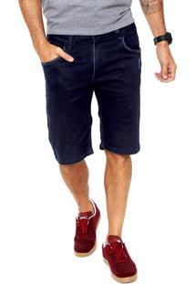 Bermuda Jeans Blunt Skinny Topácio Azul-Marinho