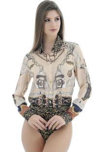 Body Gatabakana Camisa Animal Print