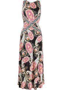Etro Vestido Com Estampa Paisley - Neutro