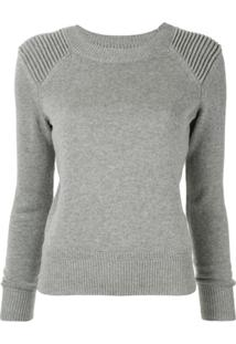 Isabel Marant Étoile Long-Sleeve Fitted Sweater - Cinza