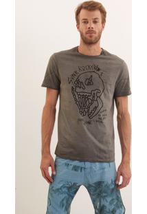 Camiseta John John Rg Super Rockers Malha Cinza Masculina Tshirt Rg Super Rockers-Cinza Chumbo-Gg