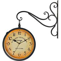 5ffcc6990c8 Relógio De Parede Decorativo Vintage Retrô Preto Estilo Estação Ferroviária  Grand Central New York R3P Import