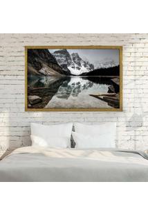 Quadro Love Decor Com Moldura Alpes Suíços Dourado Grande