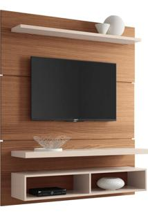 "Painel Home Suspenso Para Tv Até 55"""" Sala De Estar Guns Nature/Off White - Gran Belo"