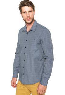 Camisa Sommer Quadriculada Bolso Azul