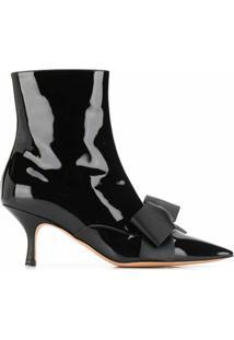 Rochas Ankle Boot Com Detalhe De Laço - Preto