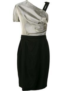 Lanvin Vestido Assimétrico - Metálico