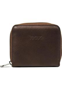 Carteira Em Couro Recuo Fashion Bag Stonado Castor