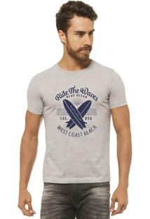 Camiseta Joss - Ride The Waves - Masculina - Masculino-Mescla