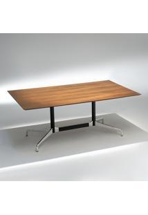 Mesa De Jantar Segmentada 2 Colunas Alumínio E Aço Studio Mais Design By Charles E Ray Eames