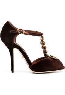 Dolce & Gabbana Sandália Devotion Com Salto Alto - Marrom