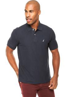 Camisa Polo Nautica Classic Azul-Marinho
