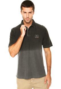 Camisa Polo Hang Loose Label Label Cinza