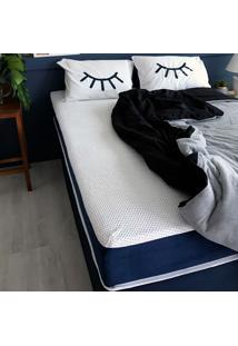 Colchão Casal Mola Ensacada Guldi Macio (25X138X188) Azul E Branco