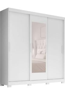 Guarda-Roupa Casal Com Espelho Ilhéus 3 Pt 2 Gv Branco