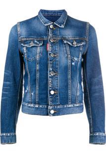 Dsquared2 Jaqueta Jeans Clássica - Azul