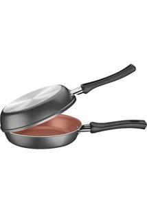 Omeleteira Vermont- Bronze & Cinza Escuro- Ø21,5Cm