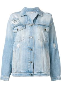 Stella Mccartney Jaqueta Jeans Oversized - Azul