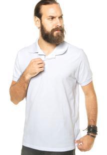 Camisa Pólo Branca M Officer masculina  4390929784ea9