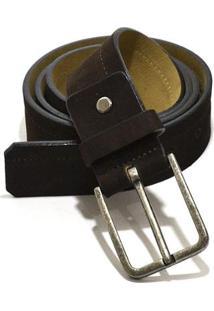 Cinto Hendy Bag Nobuck - 100 - Masculino-Marrom