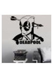 Adesivo De Parede Deadpool 4 - Es 84X98Cm