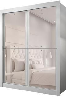 Guarda-Roupa Solteiro Com Espelho Milan New Ii 2 Pt 2 Gv Branco