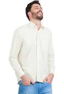Camisa Di Sotti Microfibra Marfim - Masculino