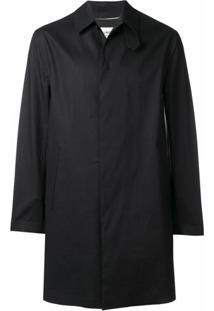 Saint Laurent Trench Coat Clássico - Preto