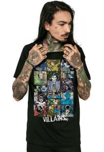 Camiseta Dc Comics Villains Bandup! - Masculino