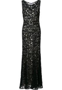 Moschino Vestido Com Renda - Preto
