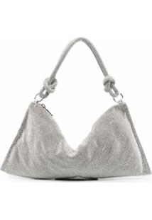 Cult Gaia Crystal-Embellished Shoulder Bag - Prateado