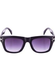Óculos Solar Feminino Conbelive Quadrado - Unissex-Preto